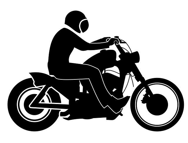 Silueta, postavička motorkára